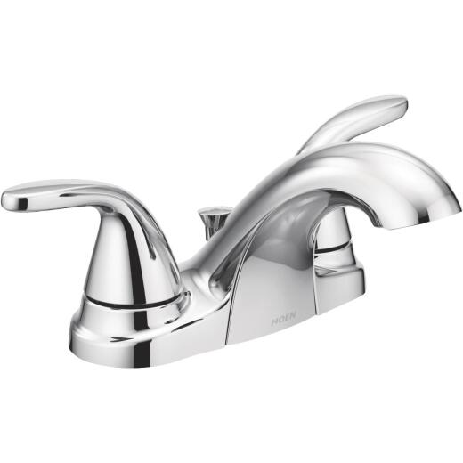 Moen Adler Chrome 2-Handle Lever4 In. Centerset Bathroom Faucet with Pop-Up